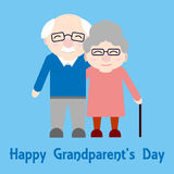 Abuelos felices Personas mayores stock de ilustración