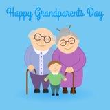 Abuelos lindos con el nieto ilustración del vector