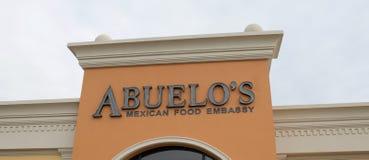 Abuelos mexikanisches Lebensmittel-Botschafts-Restaurant Stockbilder