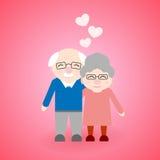 Abuelos que caminan lindos Día feliz del ` s del abuelo libre illustration