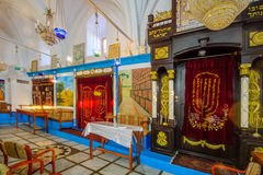 Abuhav犹太教堂,在犹太处所,采法特( Tzfat) 库存图片
