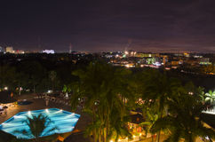 Abuja-Skyline nachts Lizenzfreie Stockbilder