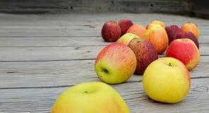 Abundância de maçãs vermelhas e cor-de-rosa Fotos de Stock