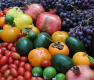 Abundance of autumn  fruits Royalty Free Stock Photos