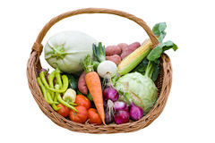Abundance basket Royalty Free Stock Photo