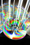 Abundance of CD's. Rows of colorful compact disks Stock Photography