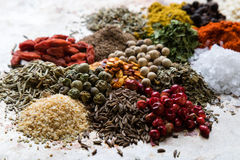 Abundance of color spices Stock Photography