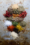 Abundance of color spices Stock Photo