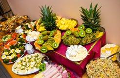 Abundance of food. On the table stock photos