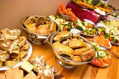 Abundance of food. On the table stock photography