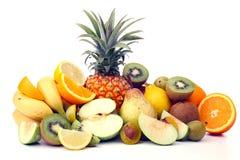 Abundance of fruits. On white Royalty Free Stock Images