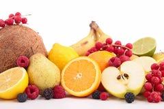 Abundance of fruits. Close up on abundance of fruit Stock Photo