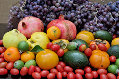 Abundance of fruits. Great abundance of autumn fruits Royalty Free Stock Photos