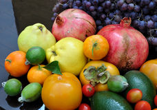 Abundance of fruits. Great abundance of autumn fruits Stock Photography