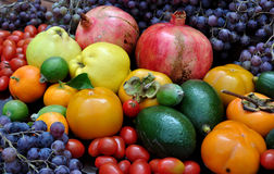 Abundance of fruits. Great abundance of autumn  fruits Royalty Free Stock Images