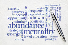 Free Abundance Mentality Word Cloud Stock Photos - 95169333