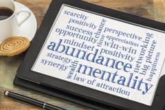 Abundance mentality word cloud Stock Photography