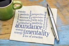 Free Abundance Mentality Word Cloud On Napkin Royalty Free Stock Photo - 83760415