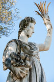 The Abundance statue, in the Boboli Garden, Florence. Florence,  ITALY - July 18, 2017: the statue of Abundance, which was partly sculptured by Giambologna and Stock Photo