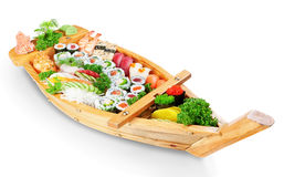 Abundance of sushi east dishes from fresh ingredients. Royalty Free Stock Images