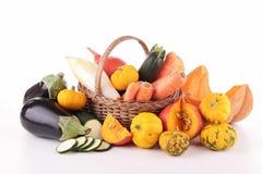Abundance of vegetable. On white Royalty Free Stock Photos