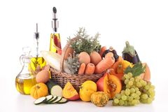 Abundance of vegetable and fruit stock images