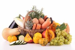 Abundance of vegetable and fruit Royalty Free Stock Photos
