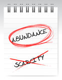 Abundance vs scarcity Royalty Free Stock Photography