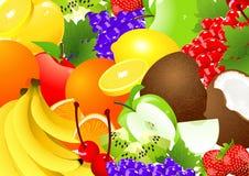 Abundancia de la fruta ilustración del vector