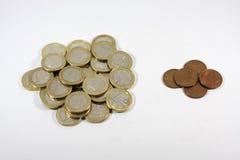 Abundancia y pobreza Fotografía de archivo libre de regalías