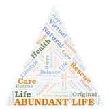 Abundant Life word cloud. Wordcloud made with text only stock illustration