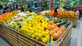 Fruits in supermarket Royalty Free Stock Image