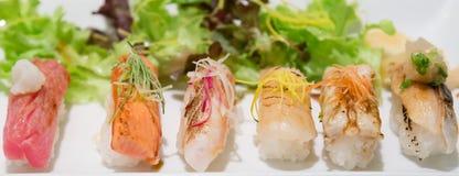 Aburi nigiri Sushi-Japanernahrung Stockbild