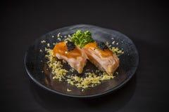 Aburi Salmon Nigiri image stock