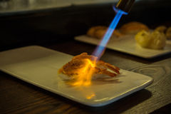Aburi-Sushi (in Brand gesetzte Sushi) Lizenzfreie Stockfotografie