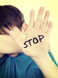 Abus d'arrêt d'enfant photos stock