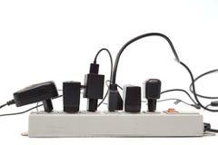 Abus de barre de courant électrique images stock