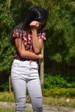 Abus de jeune Filipina Person images stock