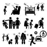 Abus négligé Cliparts de négligence d'enfant illustration de vecteur