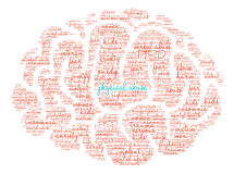 Abus physique Brain Word Cloud Image stock