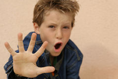 Free Abuse,angry Child Or Kid Stock Photography - 733812