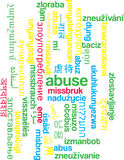 Abuse multilanguage wordcloud background concept Stock Photos