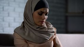 Free Abused Arab Female Thinking Of Troubles, Desperate Woman Worrying, Anxiety Stock Image - 145145491