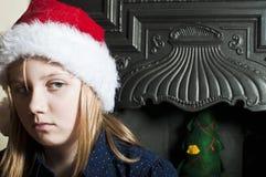 Abused christmas child Stock Image
