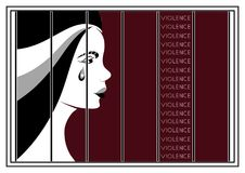 Graphic illustration with elements of violence 2 Royalty Free Stock Images