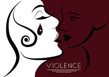 Graphic illustration with elements of violence 8 Stock Photography