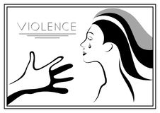 Graphic illustration with elements of violence 9 Royalty Free Stock Image