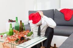 Abuso de álcool durante o período do feriado fotografia de stock royalty free