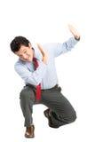 Abuso de proteção intimidado do trabalhador de escritório do Latino Imagens de Stock Royalty Free