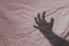 Abuso del asalto de la sombra de la mano fotos de archivo